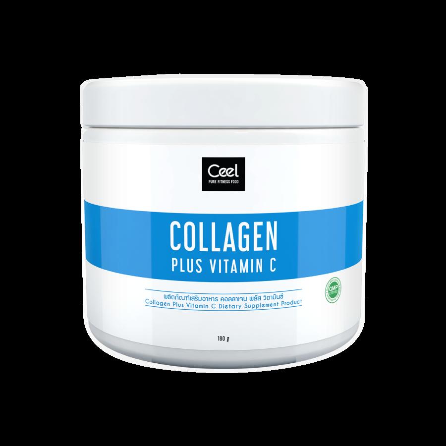 Collagen plus vitamin c, 180 g powder, brand Ceel - Pure fitness food